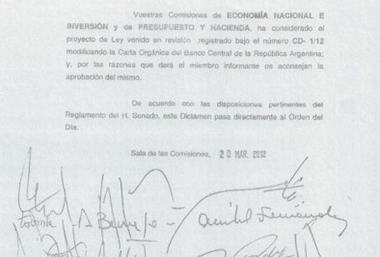 La reforma de la Carta Orgánica del Banco Central se debate este miércoles en Senadores