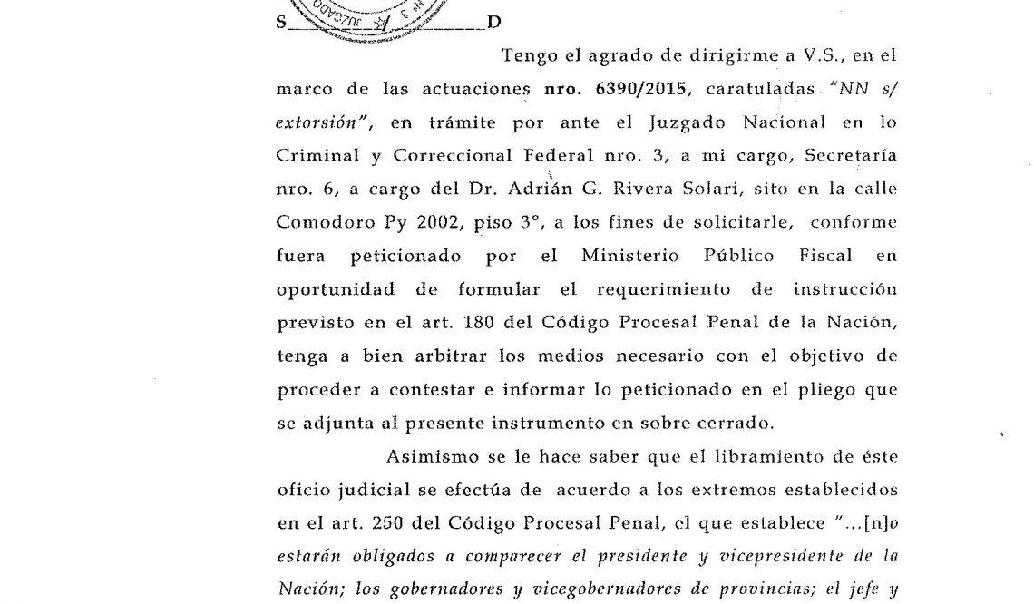 Texto de la denuncia por extorsión al programa de Lanata PPT